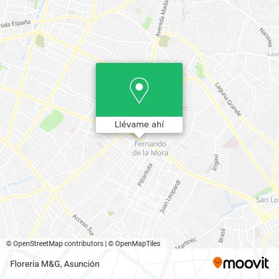 Mapa de Floreria M&G