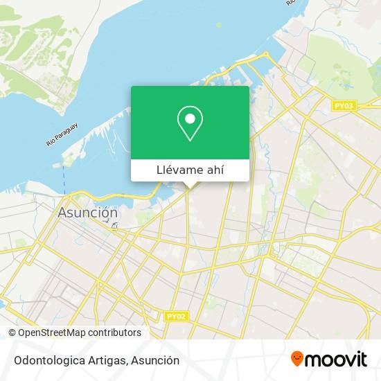 Mapa de Odontologica Artigas
