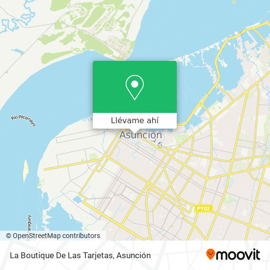 Mapa de La Boutique De Las Tarjetas