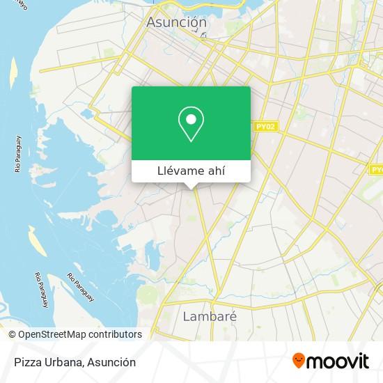 Mapa de Pizza Urbaba