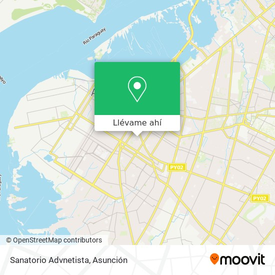 Mapa de Sanatorio Advnetista
