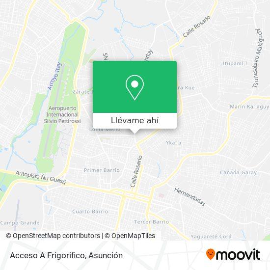 Mapa de Acceso A Frigorifico