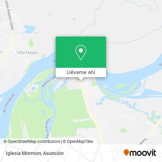 Mapa de Iglesia Mormon