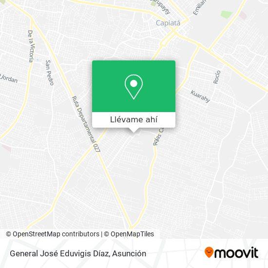 Mapa de General José Eduvigis Díaz