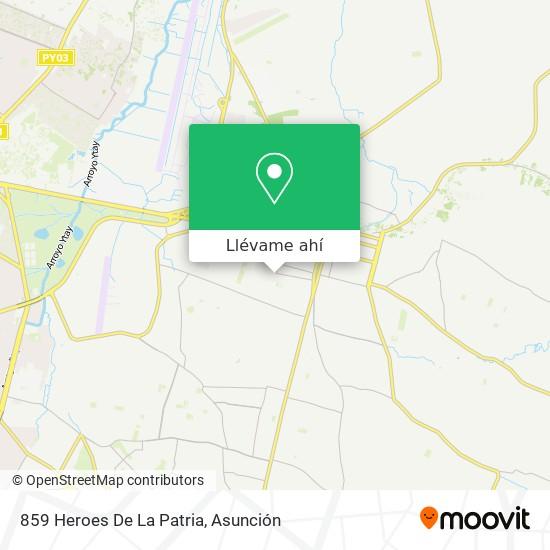 Mapa de 859 Heroes De La Patria