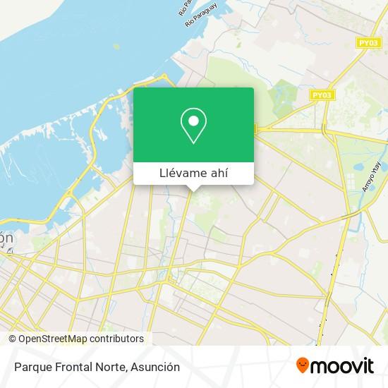 Mapa de Parque Frontal Del Instituto De Prevision Social
