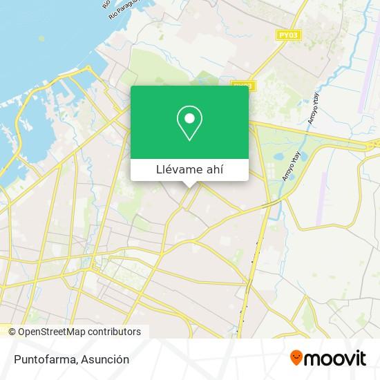 Mapa de Puntofarma