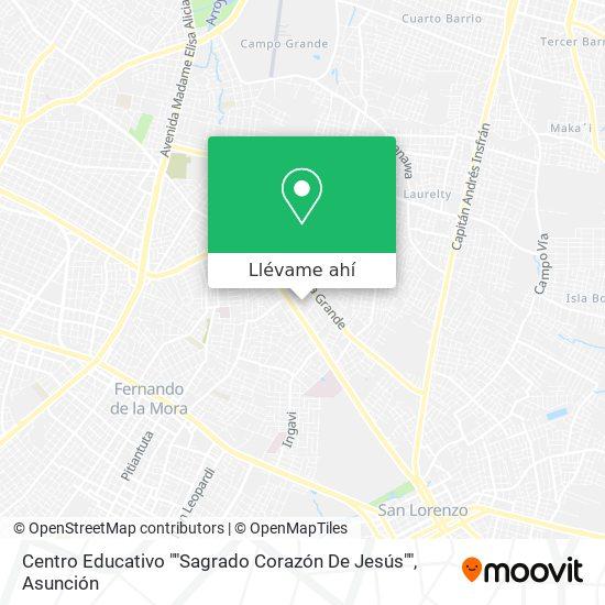 """Mapa de Centro Educativo """"""""Sagrado Corazón De Jesús"""""""""""