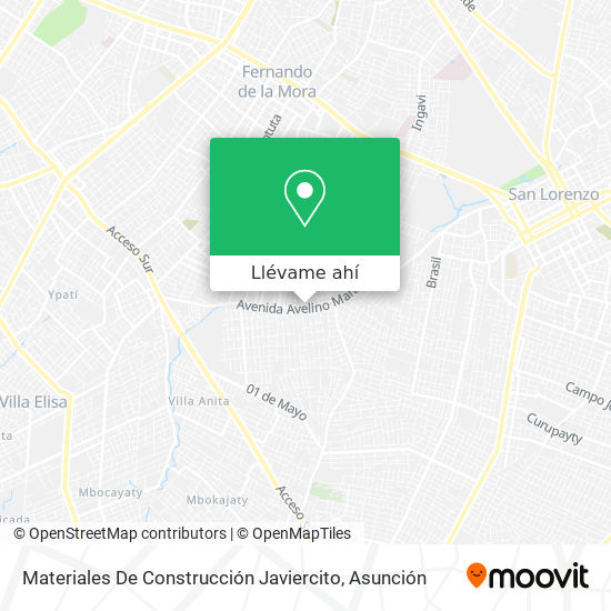 Mapa de Materiales De Construcción Javiercito
