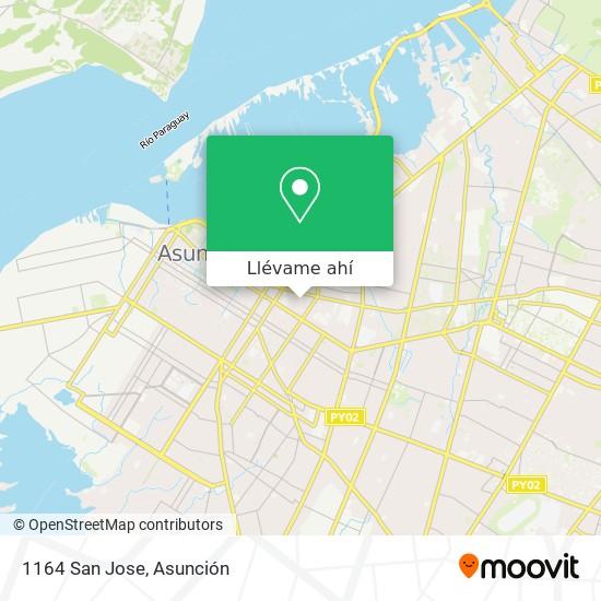 Mapa de 1164 San Jose