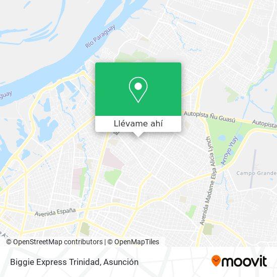Mapa de Biggie Express Trinidad