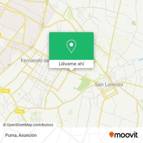 Mapa de Puma