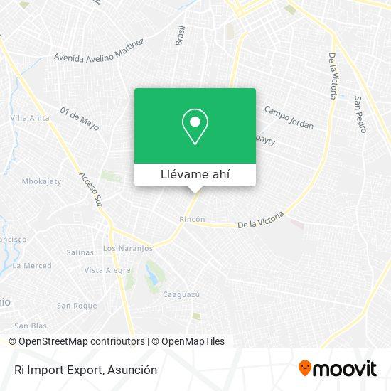 Mapa de Ri Import Export