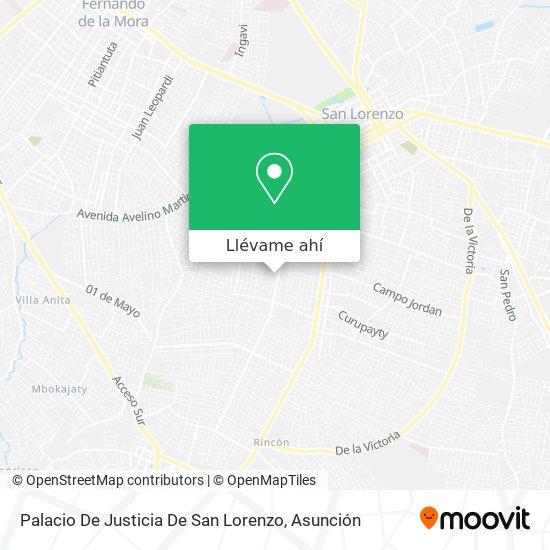 Mapa de Palacio De Justicia De San Lorenzo