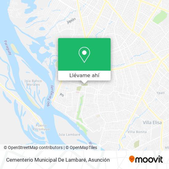 Mapa de Cementerio Municipal De Lambaré