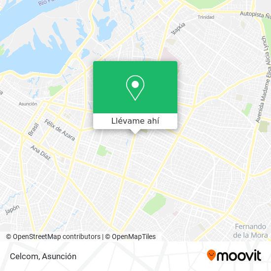 Mapa de Celcom