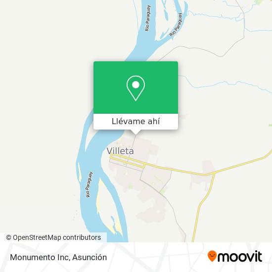 Mapa de Monumento Inc