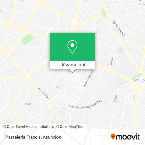 Mapa de Pasteleria Francis