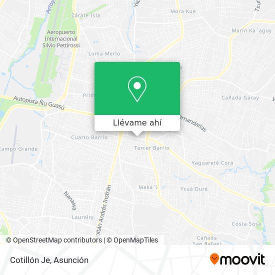 Mapa de Cotillón Je