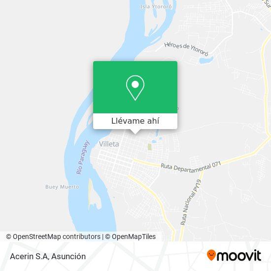 Mapa de Acerin S.A