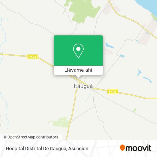 Mapa de Hospital Distrital De Itauguá