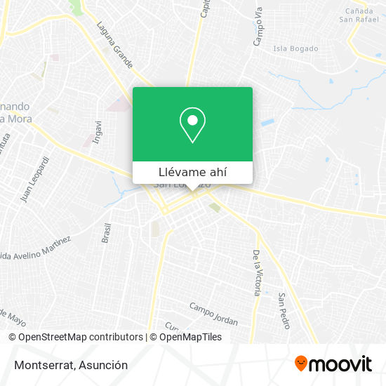 Mapa de Montserrat