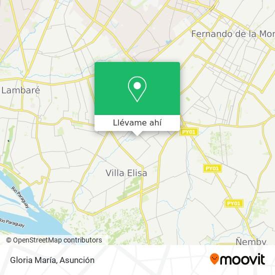 Mapa de Gloria María