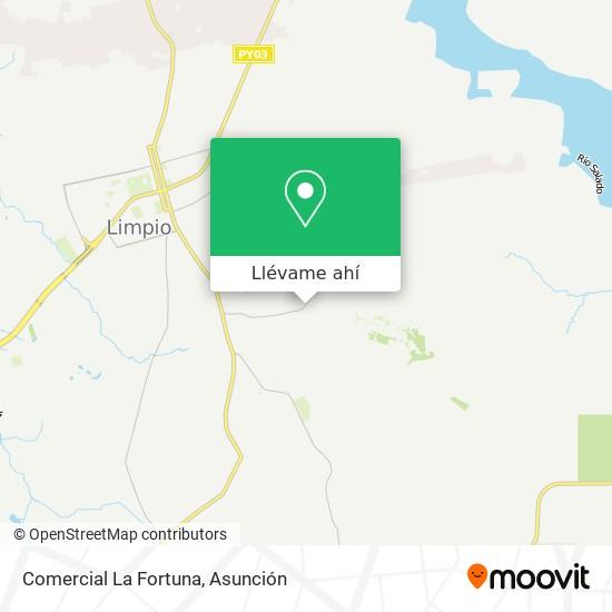 Mapa de Comercial La Fortuna