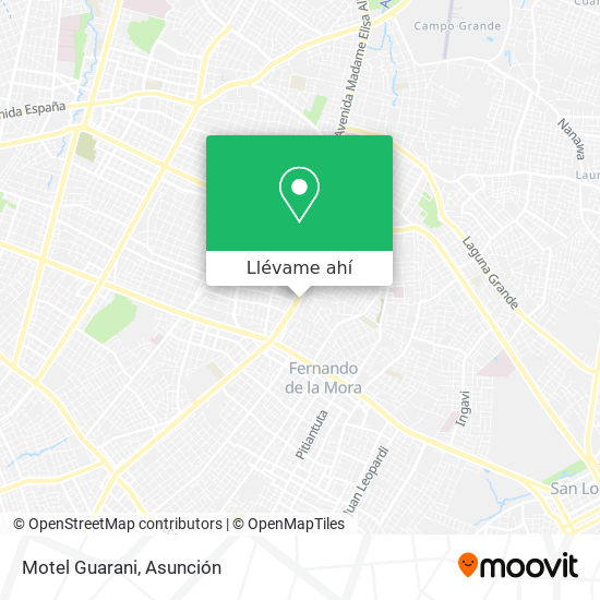 Mapa de Motel Guarani