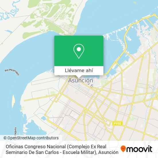 Mapa de Oficinas Congreso Nacional (Complejo Ex Real Seminario De San Carlos - Escuela Militar)