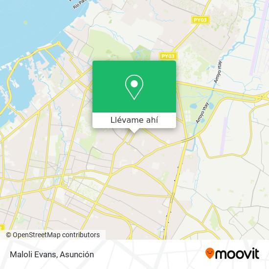 Mapa de Maloli Evans