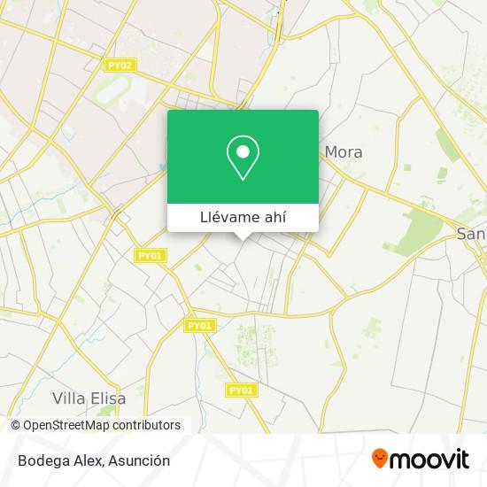 Mapa de Bodega Alex