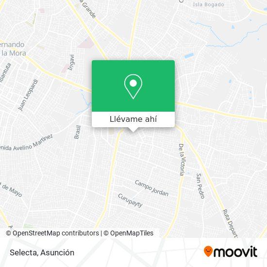 Mapa de Selecta