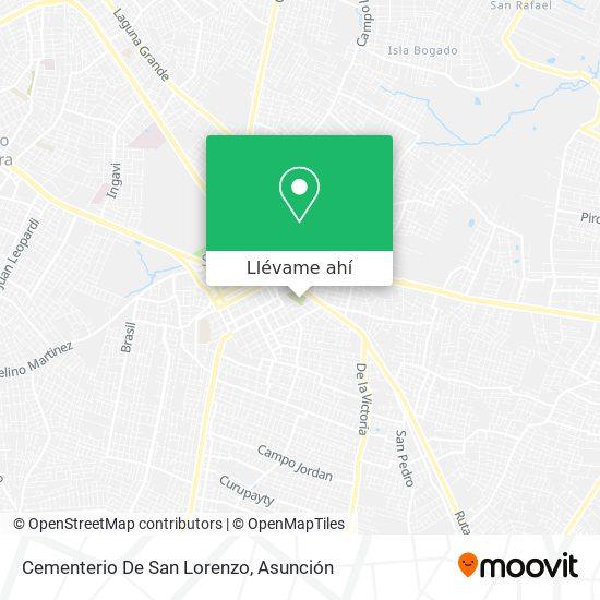 Mapa de Cementerio De San Lorenzo