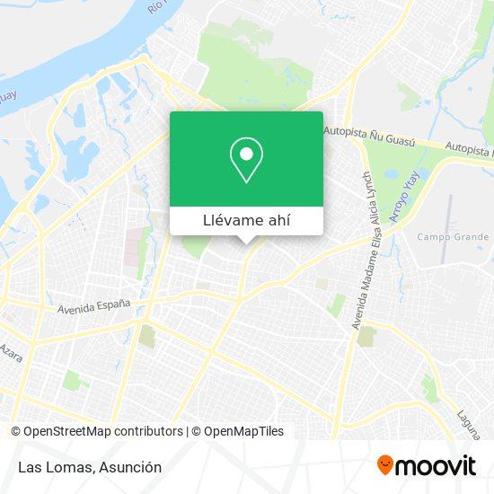 Mapa de Las Lomas