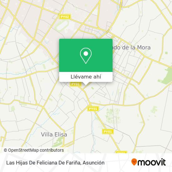 Mapa de Las Hijas De Feliciana De Fariña