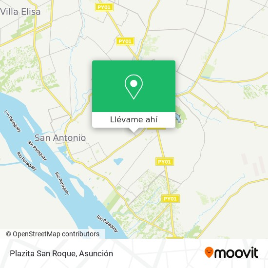 Mapa de Plazita San Roque