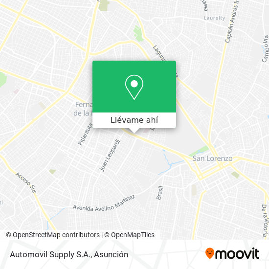 Mapa de Automovil Supply S.A.