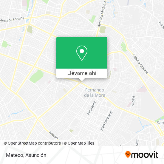 Mapa de Mateco
