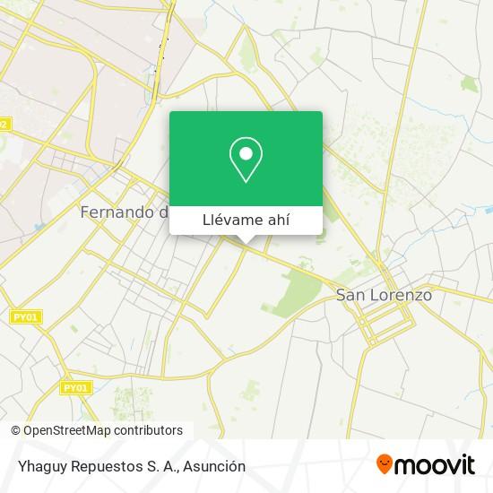 Mapa de Yhaguy Repuestos S. A.