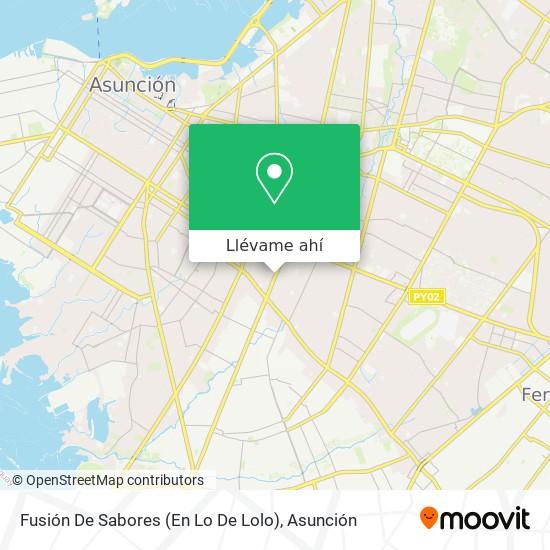 Mapa de Fusión De Sabores (En Lo De Lolo)