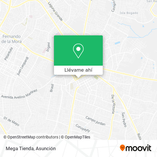 Mapa de Mega Tienda