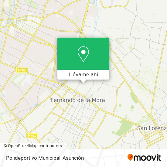 Mapa de Polideportivo Municipal
