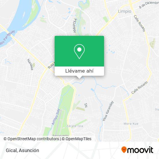 Mapa de Gical