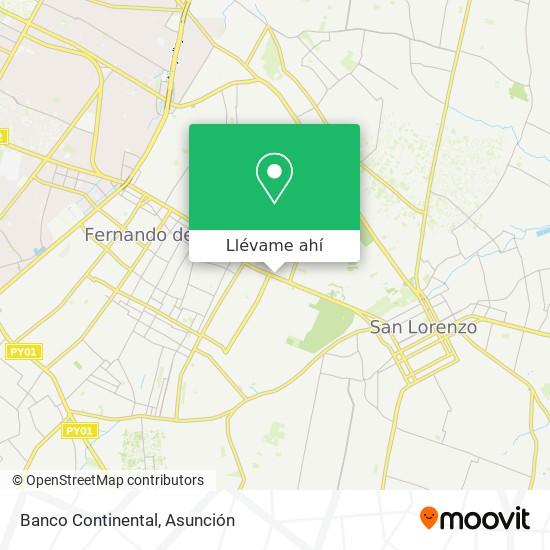 Mapa de Banco Continental