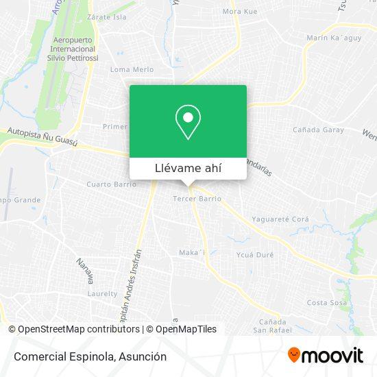 Mapa de Comercial Espinola