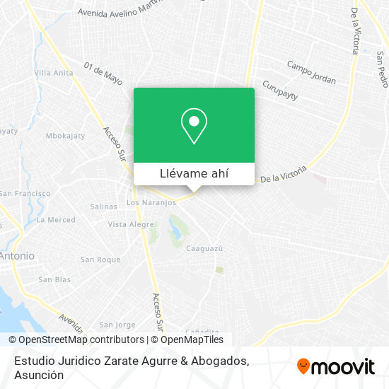Mapa de Estudio Juridico Zarate Agurre & Abogados