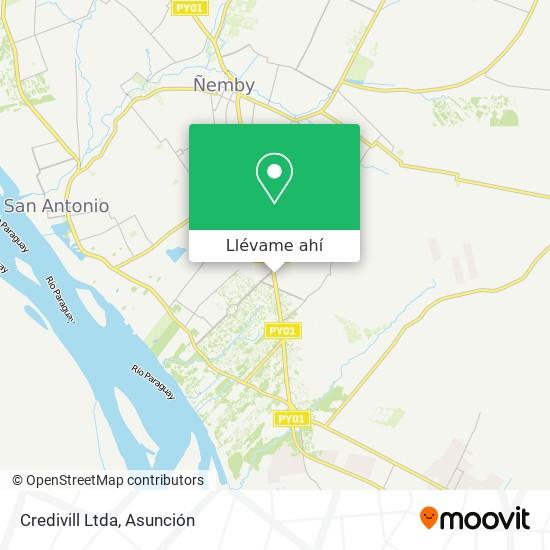 Mapa de Credivill Ltda