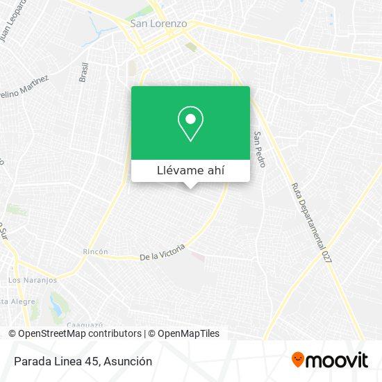 Mapa de Parada Linea 45