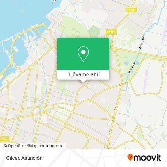 Mapa de Gilcar